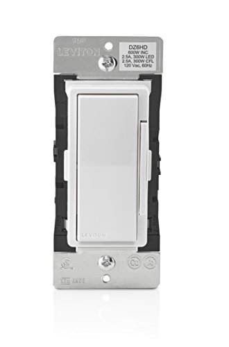 Leviton DZ6HD-1BZ Decora Smart 600W Dimmer