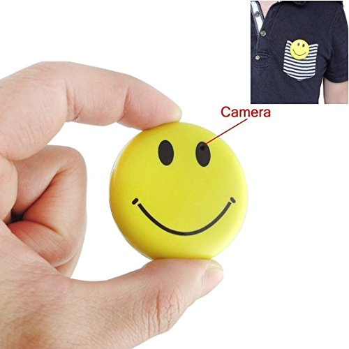 Mini Wearable Badge Hidden Spy Camera