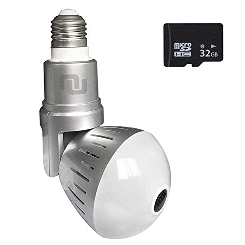 2018 Upgraded LED Light Bulb Hidden Cam NuCam
