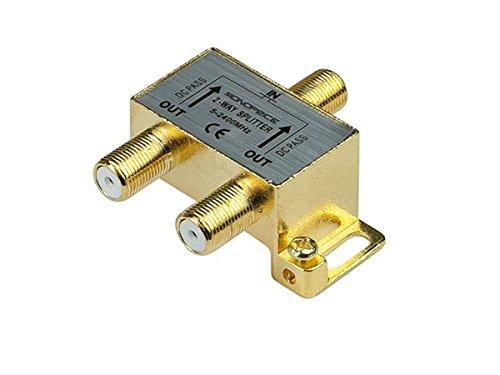 Monoprice 110013 Premium 2-Way Coax Cable Splitter