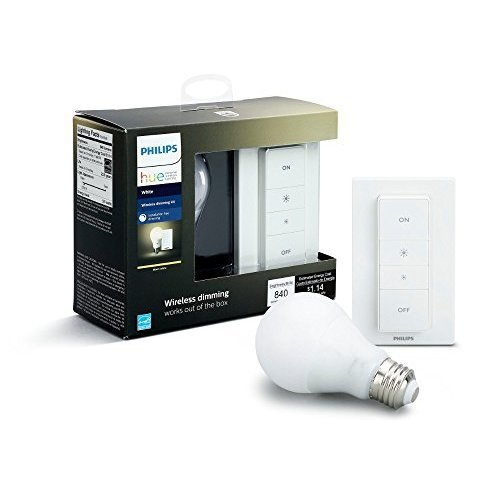 Philips Hue White A19 60W Equivalent LED Smart Bulb Starter Kit