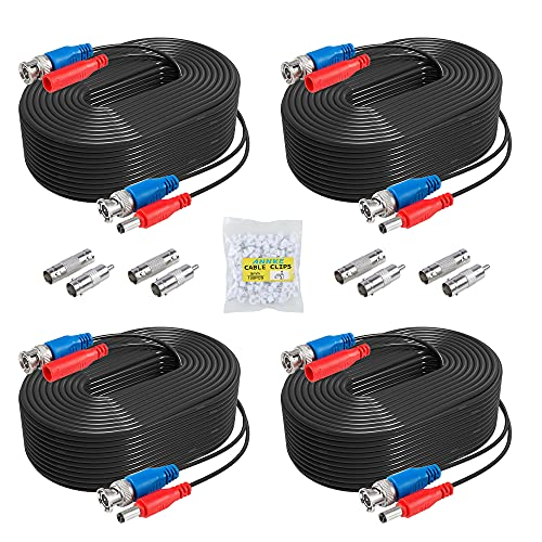 ANNKE 2-In-1 Video/Power Cable with BNC Connectors and RCA Adapters for Video Security Systems