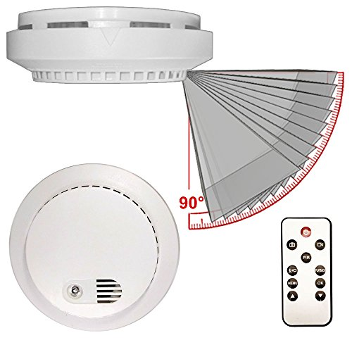 PALMVID DVR LITE SMOKE DETECTOR HIDDEN SURVEILLANCE CAMERA