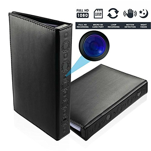 Brickhouse Security BKC-1080DVR HD 1080P Hardcover Book Hidden Camera