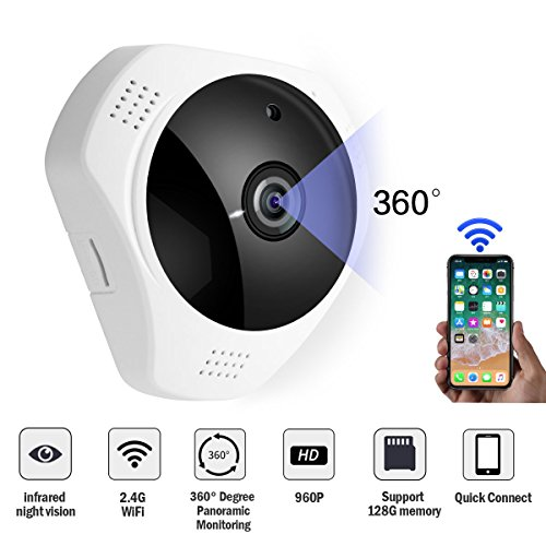 Light Bulb Camera 360 Degree Fish Eye Security Panoramic Camera For IOS/Android