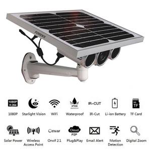 FUNXWE 1080 Full-HD Solar Power WiFi Security Camera
