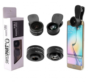 SWISS PART – 3 in 1 Universal Clip-On Cell Phone Camera Lens Kit