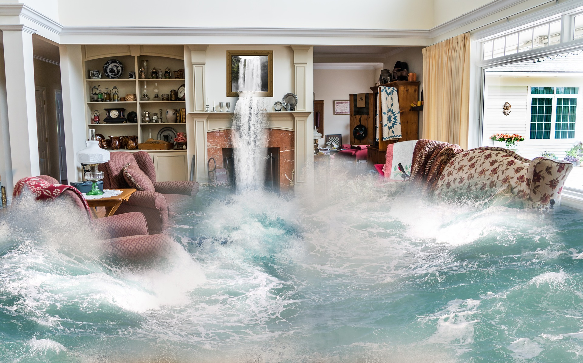 Flooding house